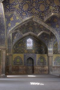 inside, the mosque is equally impressive, extensively tiled