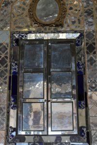 mirrored door inside the Kakh-e Ali Qapu