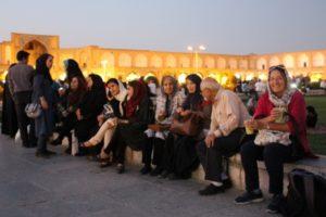 locals and tourists alike enjoying their icecream