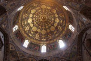 the interior of the Armenian Bethlehem church