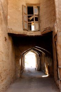 entry to a caravanserai in the bazaar