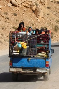 some of the nomads move by car, these days - the old Zaymed, once again