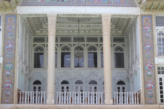 the front terrace of Qavam House