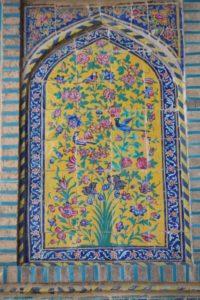 tile decoration of the Khan Madrasse entrance