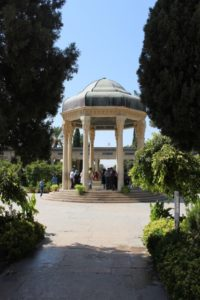 the shire of Hafez, under an octagonal pavillion