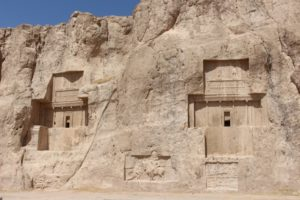 two out of four tombs in Naqsh-e Rostam