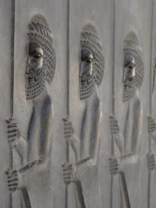bas-relief carvings on the stairs of Persepolis