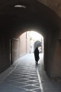 random alley in the old town of Yazd