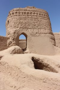 one of the mud-brick watch towers