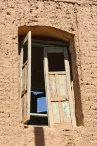 a window in Kharanaq, outside Yazd