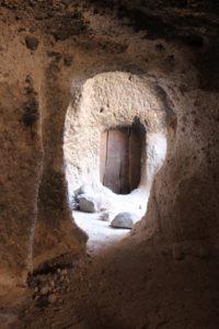 the neighbour's door, seen from the inside