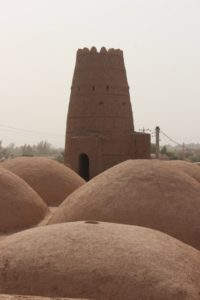 the restored caravanserai in the village