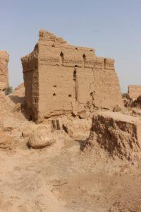 part of a building in the caravanserai