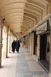 the modern Bam bazaar, entirely built after the earthquake