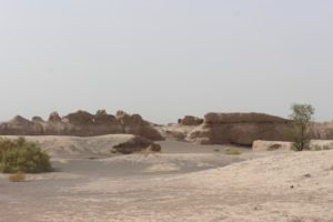 view of what is known as the Sassanian Castle
