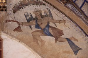 decorations include frescos of, I would call this, angels perhaps?