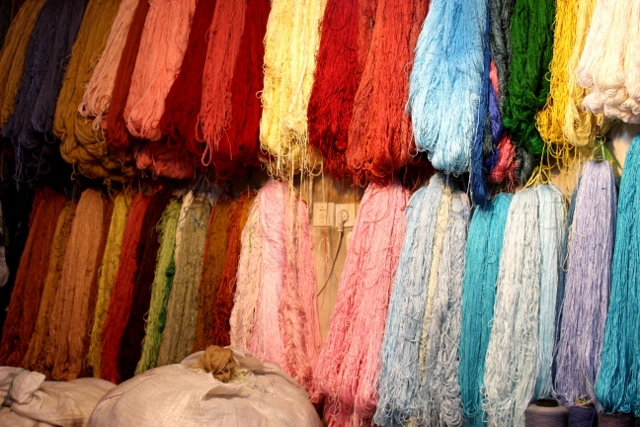 more coloured wool in the bazaar