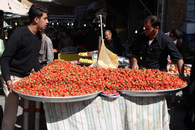 strawberry season in the bazaar