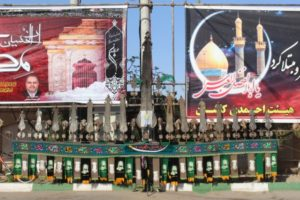 metal structure to be carried during Moharram procession