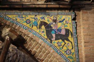 decorative tiles in an old caravanserai