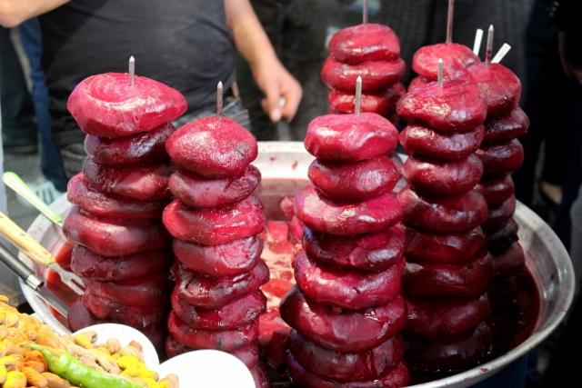 beet root snacks in one of the bazaars