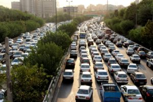 Tehran traffic, just like anywhere else