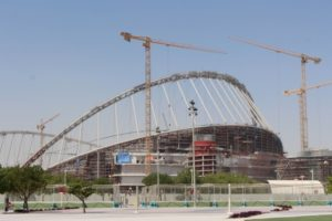 one of the big football stadiums being built for the 2022 Wolrd Cup