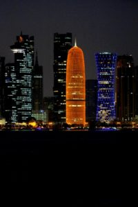 one of the most recognisable buildings in the Doha skyline