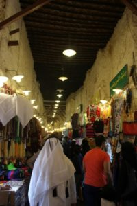 the Souq Waqif, the covered bazaar