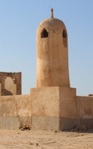 the minaret in the abandoned village of Al Jumail