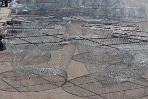fishing traps on the quai of Al Ruwais