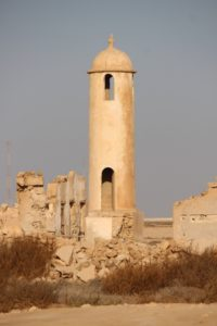 the minaret of Al Areesh, another abandoned village