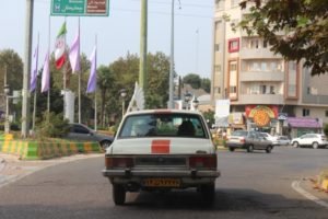 an old Peykan, Iran's home-grown car, popular as taxi