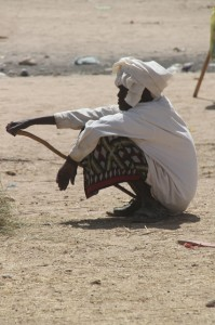 Camel seller at the cattle market of Hargeisa
