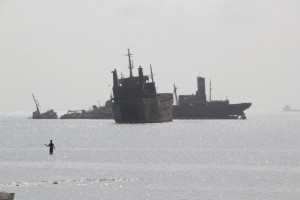 Ships that go nowhere anymore, offshore Berbera