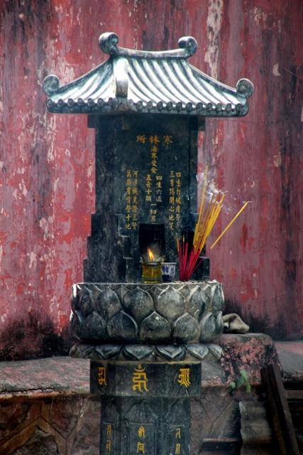 At the Jade Emperor Pagoda