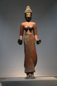 Rare bronze sculpture in the Cham Museum.