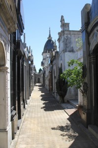 narrow streets separate the tombs and mausoleums (1)