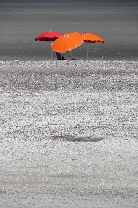 parasols on the beach of San Antonio Este