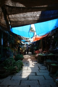one of the market streets in the Devaraja market