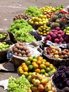 the quintessential fruit and vegetables in the market