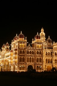 the Maharaja's  palace, illuminated (2)