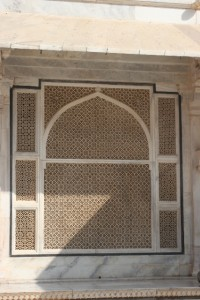 marble window of the mosque at Fatehpur Sikri