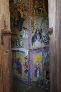 frescoes on the outside, and inside of the church, Azwa Mariam Monestry