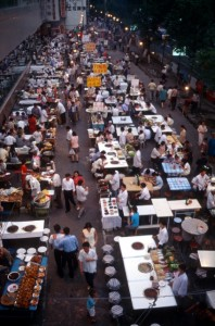 the main street food market in Urumqi