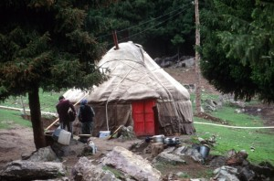 another yurt offering lunch