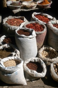 chilies in the Turpan market