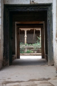 courtyard, part of the tomb structure