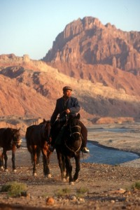 modern-day caravan along the Silk Road, nothing compared to the past