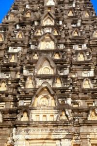 a thousand Buddhas on a stupa tower